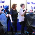 By CASSIE TULECKI Participants in Make-A-Wish Southwestern Ontario's ninth annual Go Blue! Go Bald! fundraiser raised approximately $20,000. Supporters raised pledges, dyed their hair blue and also had their heads...
