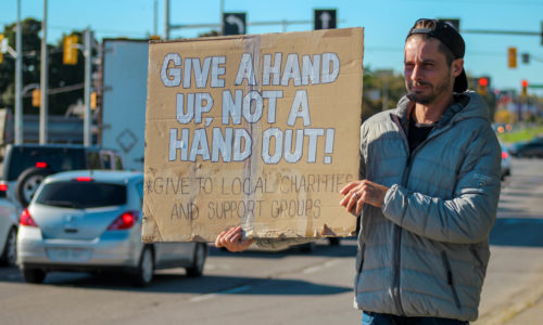 Protest to stop panhandling sparks controversy