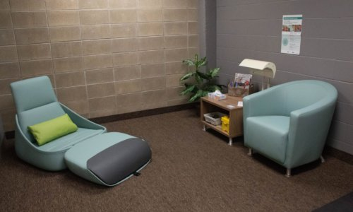New recharge rooms offer students a space to deal with the stress of college life